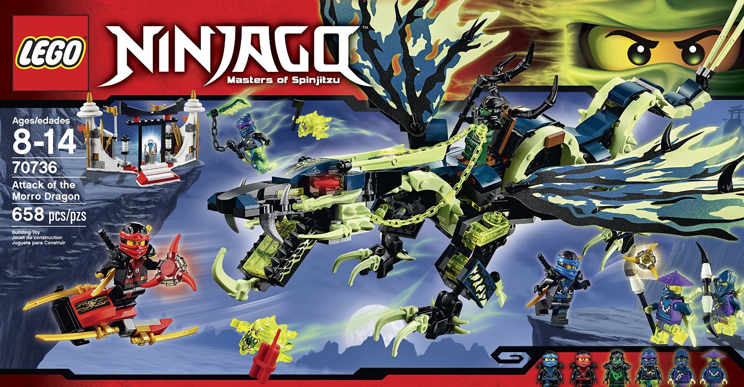 shopping for lego ninjago 70736 attack of the morro dragon. Black Bedroom Furniture Sets. Home Design Ideas