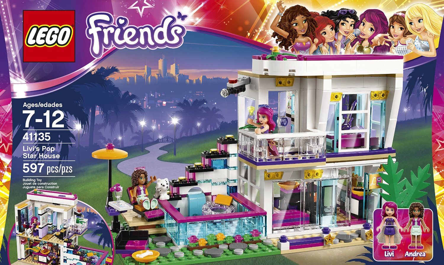 Used Bedroom Sets Shopping For Lego Friends Livi S Pop Star House 41135