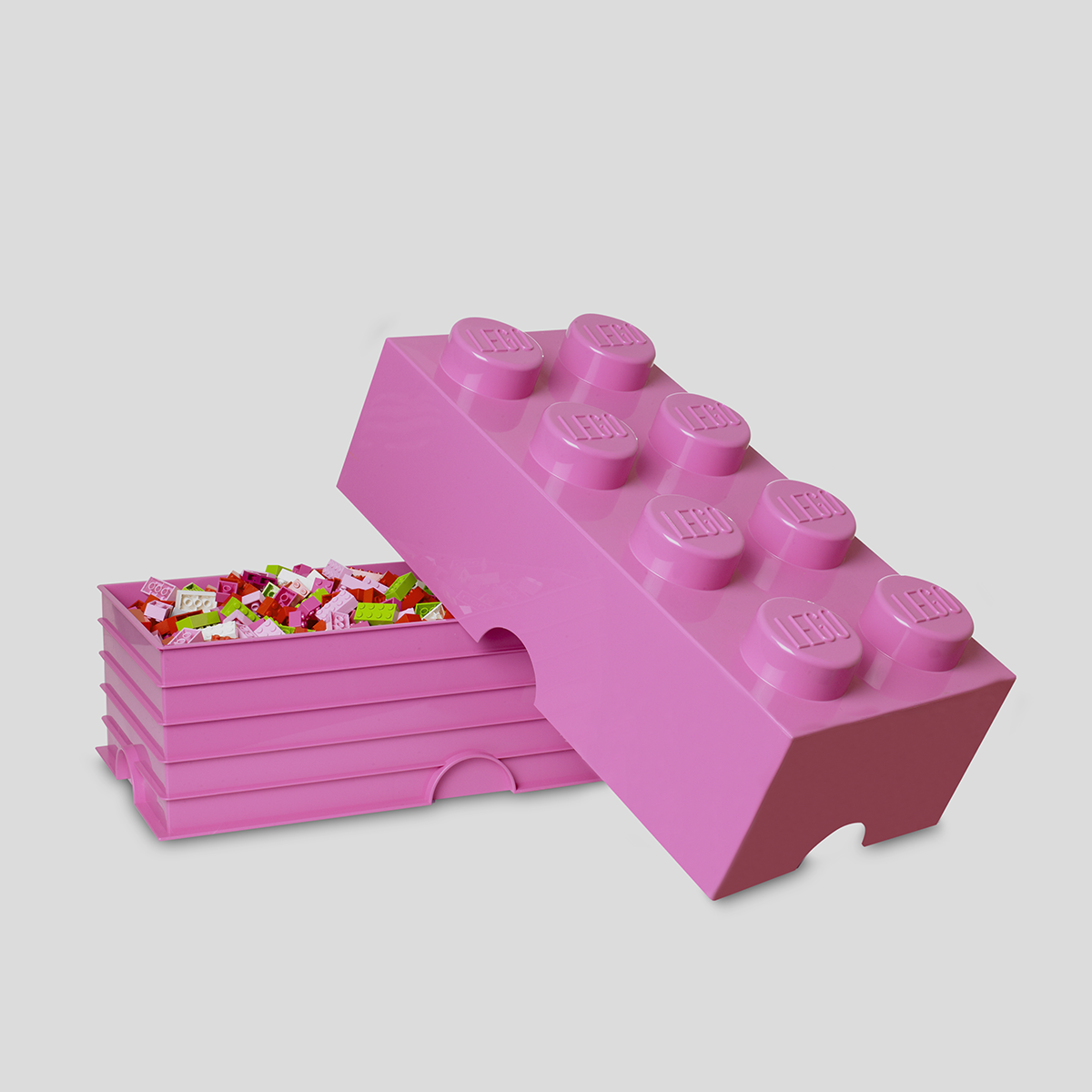 Bon 4004 LEGO Storage Brick 8_bright Purple Medium Pink_open