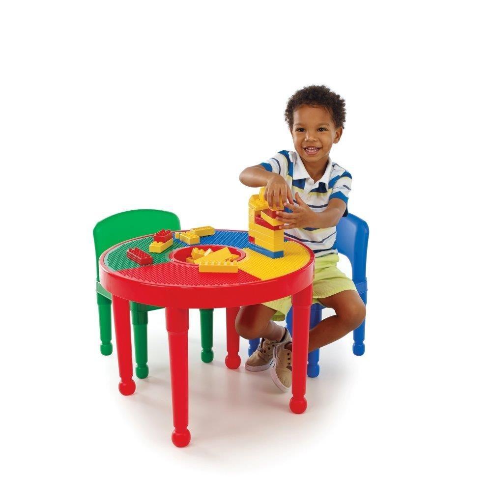 Tot Tutors Ct599 2 In 1 Round Plastic Construction Table
