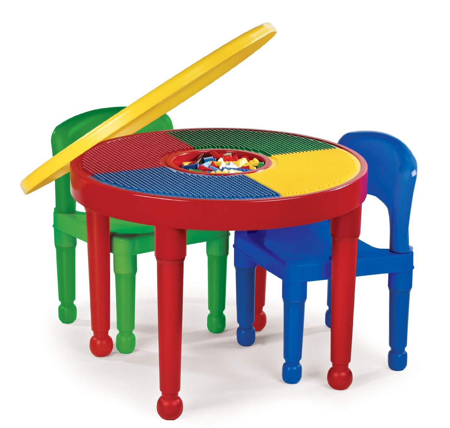 Tot tutors ct599 2 in 1 round plastic construction table for Table shopping