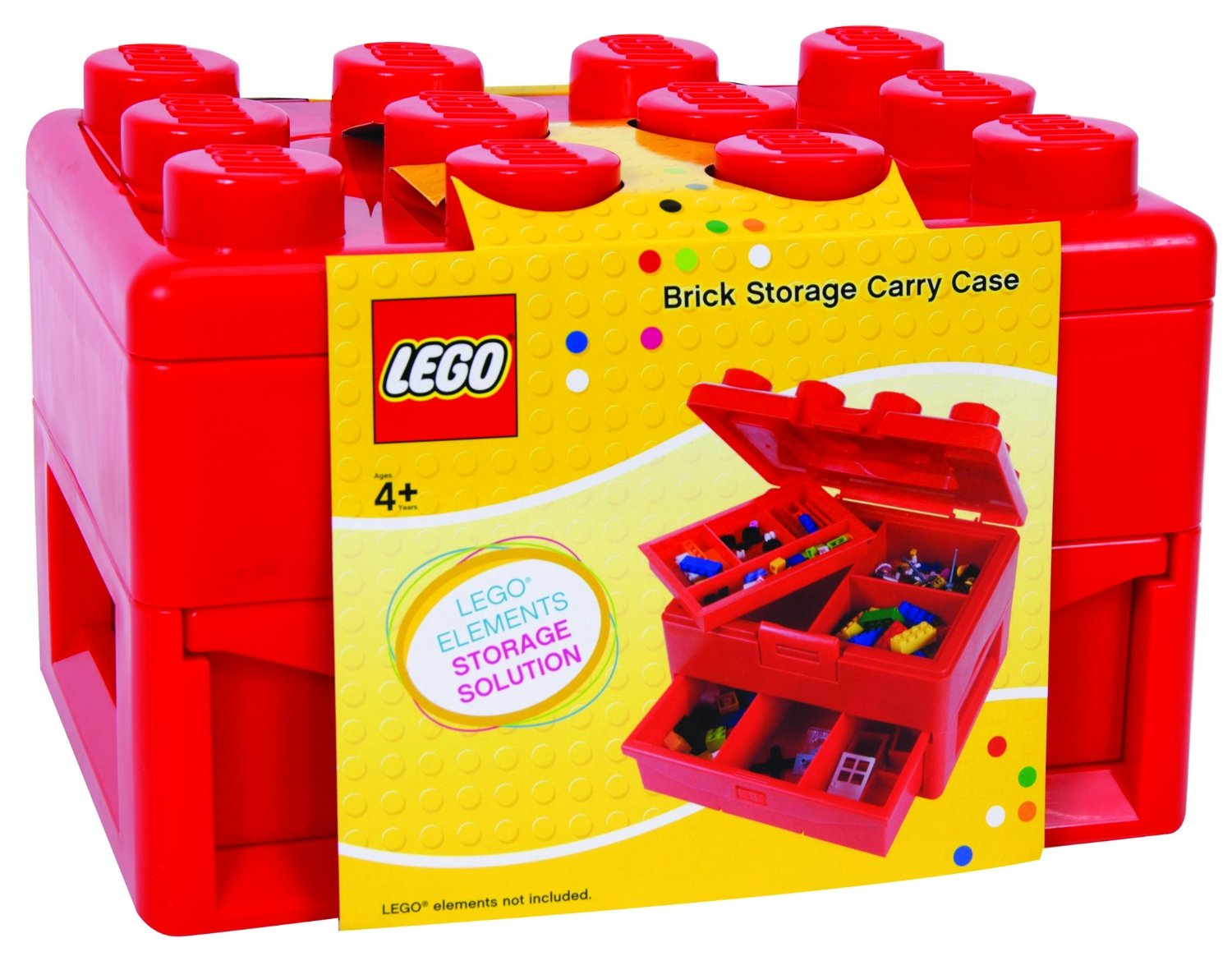 Shopping For Lego Minifigures Storage Case Large Red