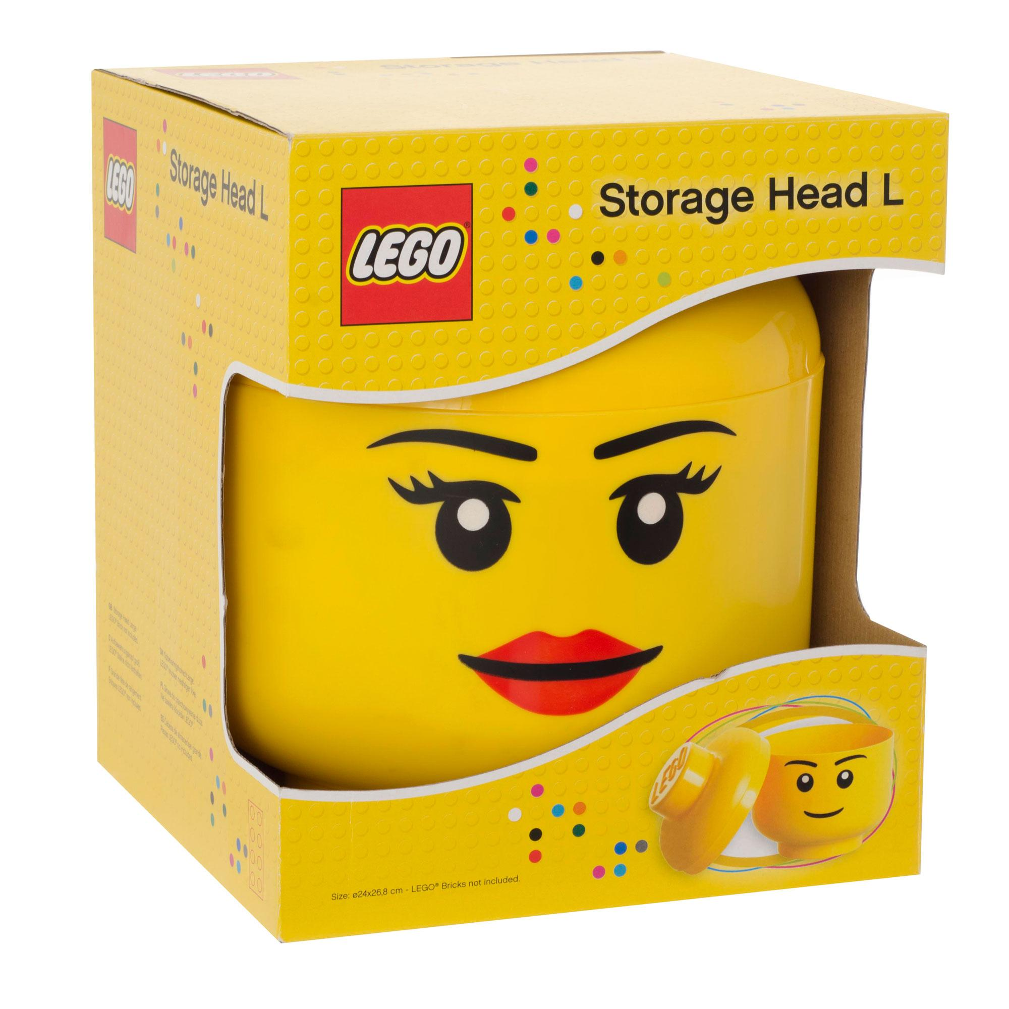 Shopping For LEGO Storage Head Large Girl Yellow?