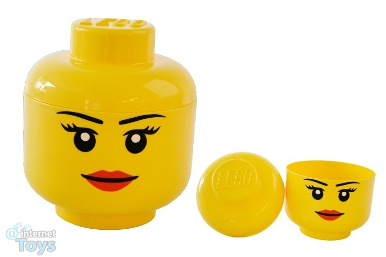 Shopping For Lego Storage Head Large Girl Yellow